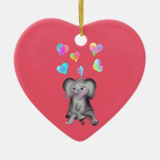 Elephant Hearts by The Happy Juul Company Ceramic Heart Decoration