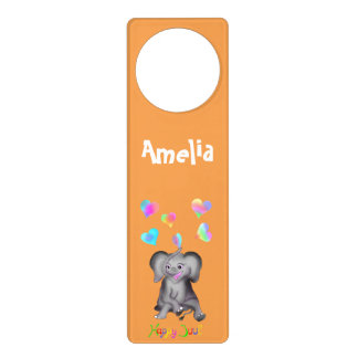 Elephant Hearts by The Happy Juul Company Door Hanger