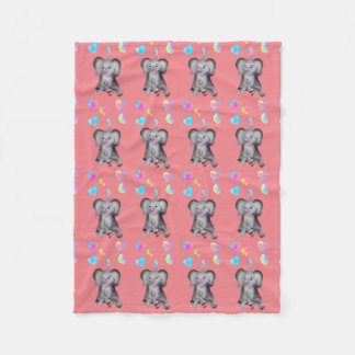Elephant Hearts by The Happy Juul Company Fleece Blanket