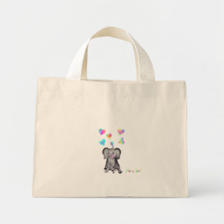 Elephant Hearts by The Happy Juul Company Mini Tote Bag