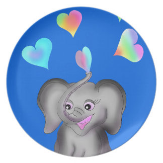 Elephant Hearts by The Happy Juul Company Party Plate