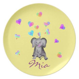 Elephant Hearts by The Happy Juul Company Plate