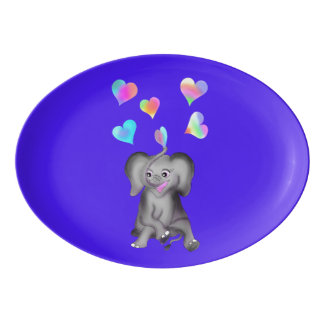 Elephant Hearts by The Happy Juul Company Porcelain Serving Platter