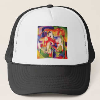 Elephant, Horse, Cattle, Winter by Franz Marc Trucker Hat