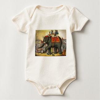 Elephant image - Vintage Baby Bodysuit