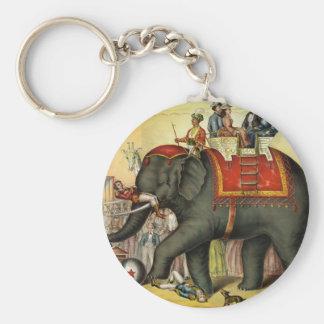Elephant image - Vintage Keychain