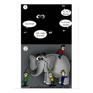 Elephant in A Dark Room Postcard