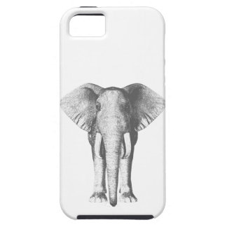 Elephant in Black and White Tough iPhone 5 Case
