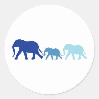 Elephant in Blue Sticker
