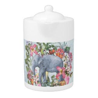Elephant in flower jungle 1