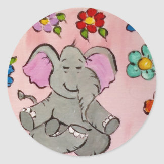 Elephant in meditation stickers
