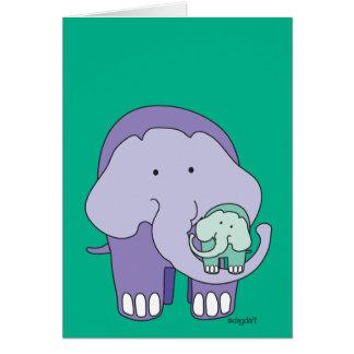 Elephant in Purple Card