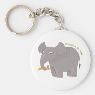 Elephant In Room Key Chains