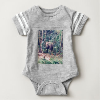 Elephant in Thailand Baby Bodysuit