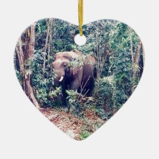 Elephant in Thailand Ceramic Ornament