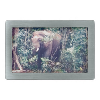 Elephant in Thailand Rectangular Belt Buckle