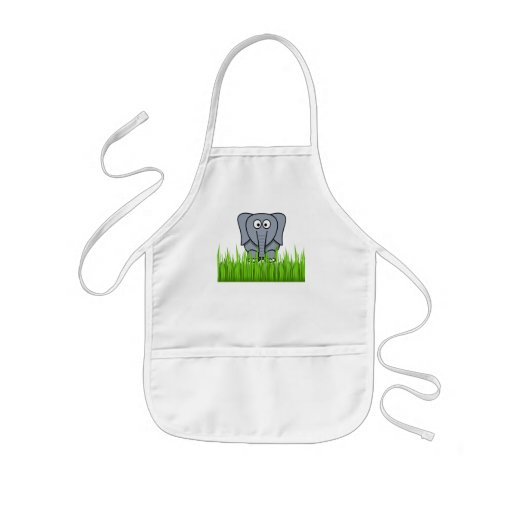 Elephant In The Grass Apron