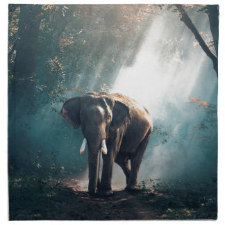 Elephant In The Savannah Napkin