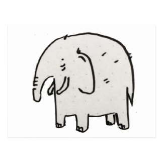 Elephant in the wild life postcard