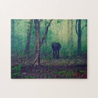 Elephant in the Woods. Jigsaw Puzzle