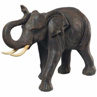 Elephant Keychain Photo Sculpture Key Ring