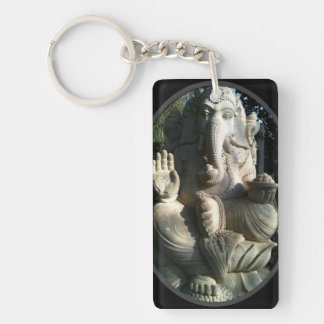 Elephant Keyring Single-Sided Rectangular Acrylic Key Ring