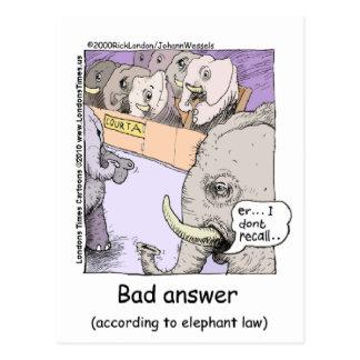 Elephant Lawyers Funny Tees Mugs Cards More Postcard