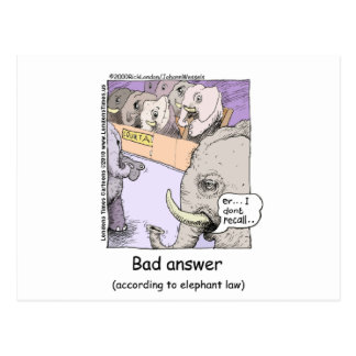 Elephant Lawyers Funny Tees Mugs Cards More Postcard