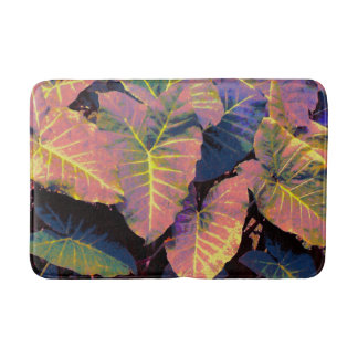 Elephant Leaves in Tropical Pastels Bath Mat