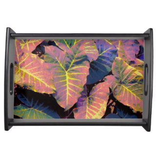 Elephant Leaves in Tropical Pastels Serving Tray