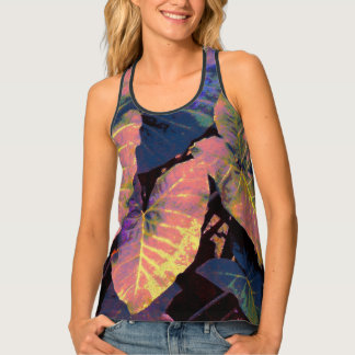 Elephant Leaves in Tropical Pastels Singlet