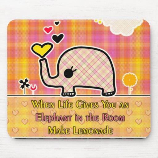 Elephant Lemonade Mouse Pad