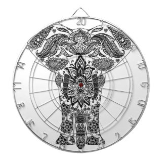 elephant-line-art- dartboard