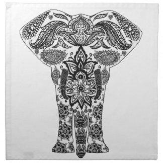 elephant-line-art- napkin
