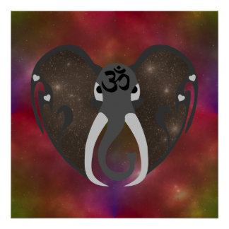 Elephant Listening to the Cosmos Poster