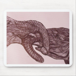 Elephant love mouse pad