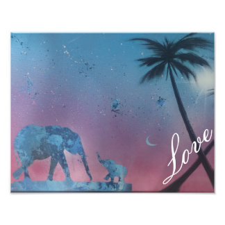 elephant love painting art photo