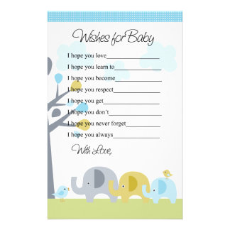 Elephant Love Wishes for Baby Letter Stationery