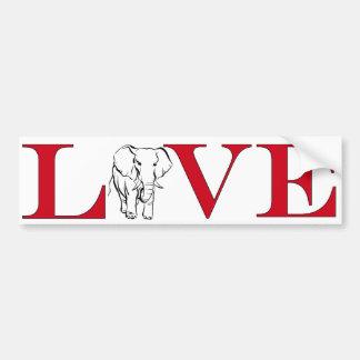 Elephant Lover Bumpersticker Bumper Sticker