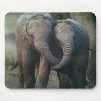 ELEPHANT LOVING COUPLE MOUSEPAD