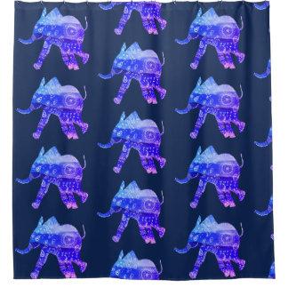 Elephant Mandala Art Shower Curtain