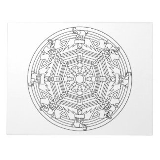 Elephant Mandala Coloring Book Pad
