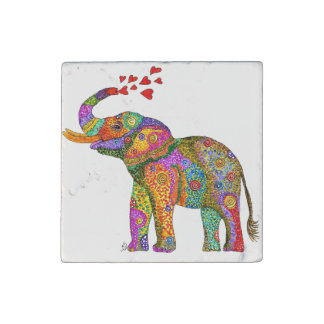 Elephant Marble Magnet