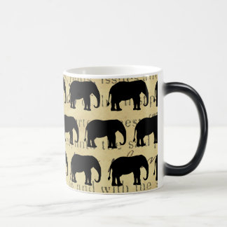 Elephant March on1860's Deed Ephemera Vintage Magic Mug