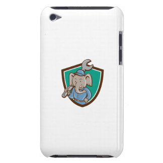 Elephant Mechanic Spanner Shoulder Crest Cartoon iPod Touch Cover