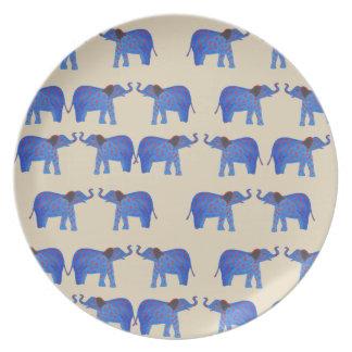 Elephant Mood Melamine Plate