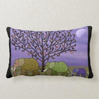 Elephant Moon Lumbar Pillow