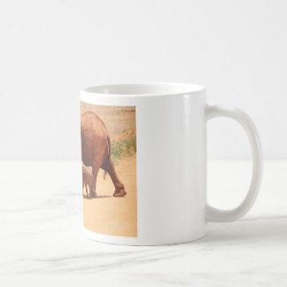 Elephant Mummy and Cub Coffee Mug