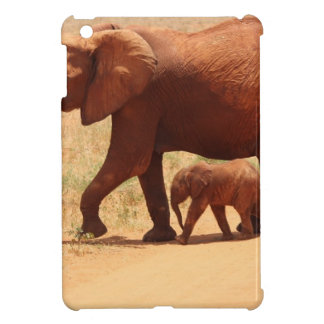Elephant Mummy and Cub iPad Mini Cover