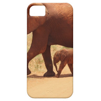 Elephant Mummy and Cub iPhone 5 Case